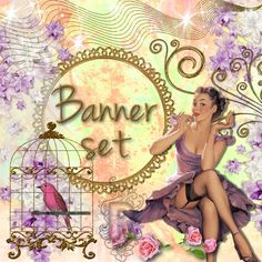 Shop Banner Avatar Set 12 pieces-pin up by RuxkyStudio on Etsy