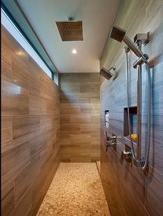 The most creative Walk-In Shower Ideas you can use to design your new shower without doors. Find the best designs for There's a doorless shower design for everyone. Master Shower, Walk In Shower, Shower Doors, Master Bathroom, Rain Shower, Walk Through Shower, Shower Niche, Shower Bathroom, Shower Walls