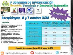 1ª JORNADA DE INVESTIGACIÓN Docencia, Tecnología y Desarrollo Sustentable: PROMOCIONAL