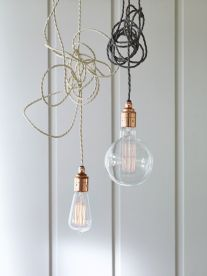 Cox & Cox exposed vintage light bulbs