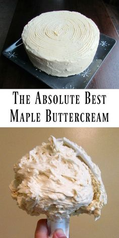 This Maple Buttercream is the best of the best! This Maple Buttercream is the best of the best! Cupcake Recipes, Baking Recipes, Cupcake Cakes, Maple Dessert Recipes, Maple Syrup Recipes, Spice Cake Recipes, Cake Icing, Buttercream Recipe, Icing Recipe