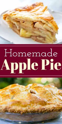 This is absolutely the best homemade apple pie you'll ever make! It has a flaky, buttery crust and a tender, lightly-spiced apple pie filling. Use a combination of apples for best flavor, and bake until the top is golden and the filling is bubbly! Apple Pie Recipes, Apple Desserts, Dessert Recipes, Apple Pie Recipe Easy, Old Fashioned Apple Pie, Homemade Apple Pie Filling, Best Apple Pie, Simply Recipes, Crust Recipe
