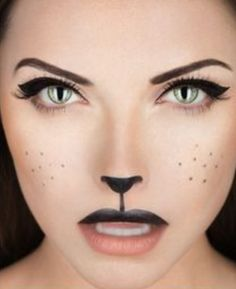 Rabbit makeup. Khloe and I are going to be bunnies !