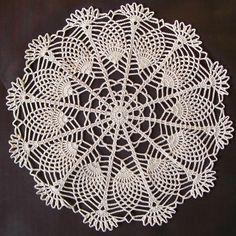 Doily Patterns, Crochet Patterns, Crochet Dollies, Pineapple Crochet, Crochet Cushions, Plastic Canvas, Doilies, Charts, Needlework