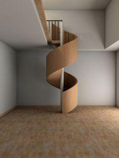 Upstair by David Alvarez Spiral Stairs Design, Home Stairs Design, Interior Stairs, Spiral Staircase, Circle Stairs, Round Stairs, Mexican Restaurant Design, Stair Elevator, House Plans Mansion