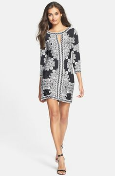 BCBGMAXAZRIA Placed Print Jersey Shift Dress... Stunning and Max Azria just happens to be one of my favorite designers.