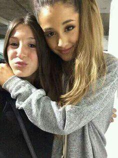 Ariana Grande with fan