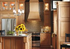 Thomasville Traditional Kitchen in Brown with Hartselle Doors