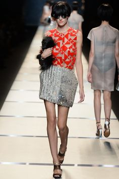 Fendi RTW Spring 2014 - Slideshow - Runway, Fashion Week, Reviews and Slideshows - WWD.com MILAN