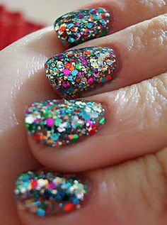 Rainbow glitter- used to have this polish and loved it! until i dropped it on my bathroom floor......