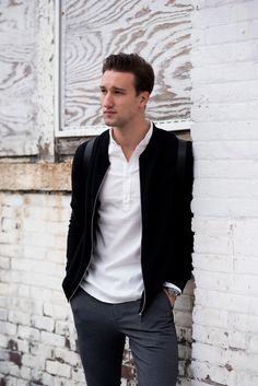Check out Marcel Floruss' PREMIUM by JACK & JONES street style!