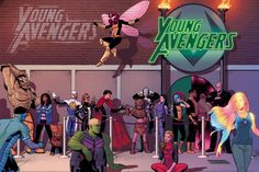 """Young Avengers """"After Party"""" storyline. Looks SO good!"""