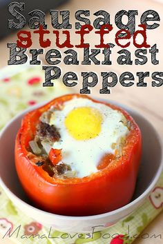 sausage stuffed breakfast peppers by MommyNamedApril, via Flickr