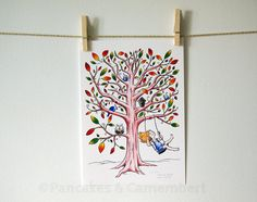 The swing - Limited art print  A4 size 8 1/4 x by PancakesCamembert, €30.00