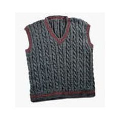 119M Daddy & Me Men's Cabled Vest (Free)
