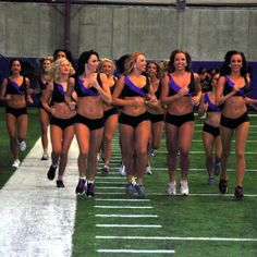 Ever thought cheerleading wasn't a real sport? The Minnesota Vikings squad shows you a routine that will change your mind.