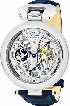 7a9f39f1d83b New Stuhrling Original Men s Emperor s Grandeur Analog Automatic Self Wind  Blue Leather Watch online. Enjoy the absolute best in Stuhrling Original  mens ...