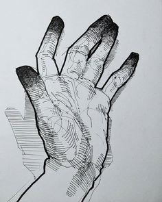 #sketchbook #drawing #illustration #art #instaart #danishart #figuredrawing #lifedrawing #drawingoftheday #tegning #hands #hand #crosshatching #emilunderbjerg