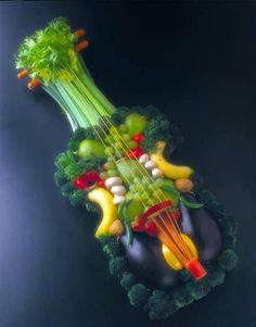 Wow!  some vegetable and fruit tray, just need some dips!