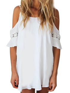 White Cut Out Cold Shoulder Lace Trumpet Sleeve Spaghetti Strap Dress - See more at: http://www.choies.com/product/white-cut-out-cold-shoulder-lace-trumpet-sleeve-spaghetti-strap-dress_p42106#sthash.tKSaRaNS.dpuf