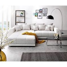 wohnzimmer cinza claro cm creme fezes grande Sofá Violetta Wohnideen Sofá grande Violetta 310135 cm creme cinza claro com fezes Wohnideen The Big Comfy Couch, Cozy Couch, Comfy Sofa, Living Room Sofa Design, Living Room Designs, Living Room Decor, Pit Couch, Oversized Couch, Deep Couch