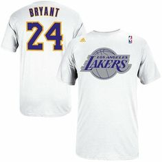 Adidas Kobe Bryant Los Angeles Lakers 2013 Christmas Day Name & Number T-Shirt - White.