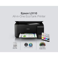Save more with Epson's economical and multifunctional printing solutions for business—the EcoTank L3110—built to bring down costs, and bring up productivity. Ink Tank Printer, Printer Types, Epson Ecotank, Sublimation Paper, Tank Design, Laptop Computers, Computer Laptop, Toner Cartridge