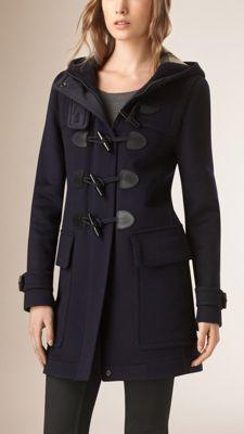 Burberry Straight Fit Duffle Coat in Dark Indigo
