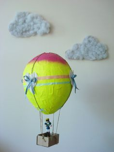how to make a tissue paper hot air balloon project