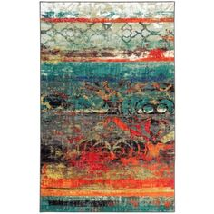 Mohawk Home Strata Eroded Multicolor Rug (5' x 8')