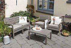 £180 Allibert Keter Delano 4 Seat Sofa Garden Lounge Set Cappuccino or Graphite in Garden & Patio,Garden & Patio Furniture,Furniture Sets | eBay