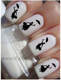 Nail art Mary Poppins