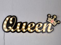 LED Light letter QUEEN LEXIE Luminous word Collection by MARILEME