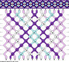 Muster # 26053, Streicher: 14 Zeilen: 10 Farben: 4