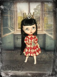 Blythe  Vintage Style  Queen of Hearts Inspired      by KarynRuby