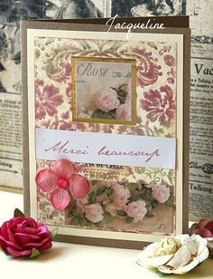 Rose | I have used the Classic fabric design stamp on the ba… | Flickr