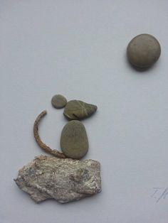 Bild aus Kieselsteinen *Maus* von TAMIKRA auf DaWanda.com