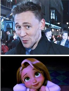 The Tom Hiddleston Effect. I love how she kind of looks like me. its weird.