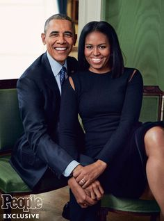 """""""President Barack Obama and First Lady Michelle Obama looking so GORGEOUS in People Magazine. 8 years of flawlessness! Michelle E Barack Obama, Barrack And Michelle, Barack Obama Family, Michelle Obama Fashion, Obamas Family, Obama President, Presidente Obama, Malia And Sasha, Barrack Obama"""
