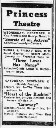 Dec 1938 sidelines