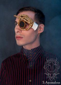 floating skeleton hand latex monocle prosthetic #halloween #steampunk