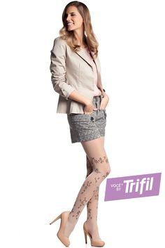 Meia-calça Floral (20 DEN): Para um look mais moderno e delicado, nesta estação abuse dos shorts, saias, vestidos e complete o seu look com as meias Trifil.