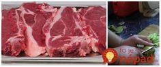 Geniálny trik, vďaka ktorému zázračne zmäkne každé mäso: Dokonca aj najtuhšie hovädzie sa bude rozpadať na jazyku! Modern Food, Food And Drink, Pizza, Cooking Recipes, Vegetarian, Beef, Kebabs, Free Time, Czech Republic