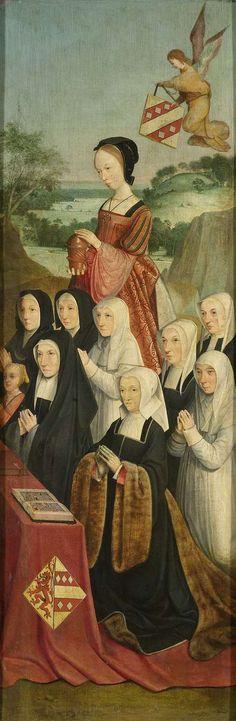 Magdalena amb membres de la família van Soutalande van Warenen, donants i un grup de monges amb hàbit blanc, c.1510-1520     Meester van Alkmaar
