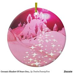 Ceramic Blanket Of Stars Ornament
