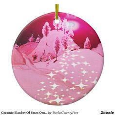 Ceramic Blanket Of Stars Ornament