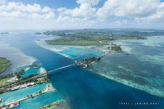 Koror-Babeldaob Bridge from above, Palau
