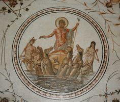 Triumph of Neptune. Mosaic from the Bardo Museum, Tunisia