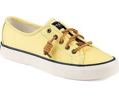 Sperry Top-Sider Seacoast Canvas Sneaker - not usually one for yellow, but these are kinda cute.