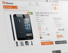 New website design - UX & UI - for Oteena eCommerce website.